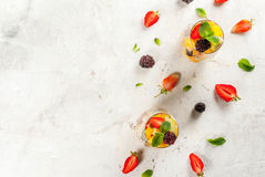 Salad of fresh organic fruits Stock Image
