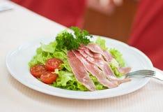 Salad with fresh salmon Stock Photo