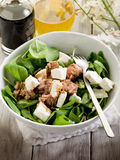 Salad with fresh spinach and tuna Stock Images