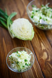 Salad of fresh spring cabbage Stock Photography