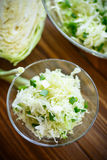 Salad of fresh spring cabbage Stock Image