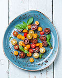 Salad with fresh tomatoes Royalty Free Stock Images