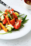 Salad with fresh tomatoes and pepper Stock Photography
