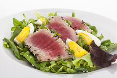 Salad with fresh tuna. Stock Image