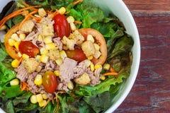 Salad with fresh tuna Stock Photos