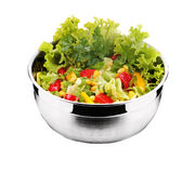 Salad with fresh vegetable Royalty Free Stock Images