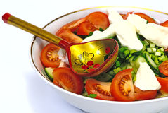 Salad, Fresh Vegetables Stock Images