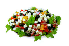 Salad from fresh vegetables. Is a worthy ornament of a celebratory table Royalty Free Stock Image