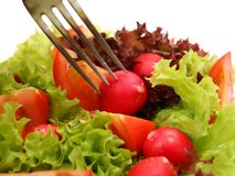 Salad from fresh vegetables Stock Image