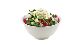 Salad from fresh vegetables Stock Photography