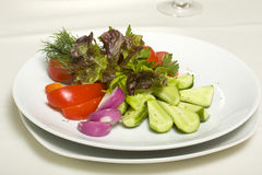 Salad of fresh vegetables Stock Image