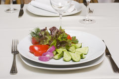 Salad of fresh vegetables Stock Photo
