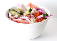 Salad of fresh vegetables Stock Photography