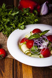Salad of fresh vegetables Stock Image