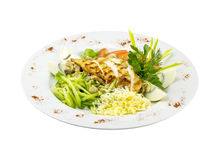 Chicken grilled salad royalty free stock images