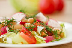 Fresh salad with beans Stock Photography