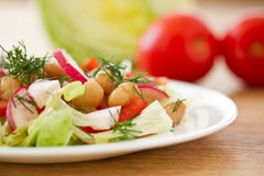Fresh salad with beans Royalty Free Stock Photo