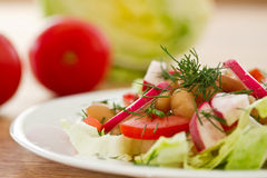 Fresh salad with beans Royalty Free Stock Image