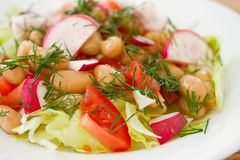Fresh salad with beans Stock Image