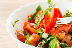 Salad with fresh vegetables Royalty Free Stock Photos