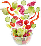 Salad of fresh vegetables Stock Photos