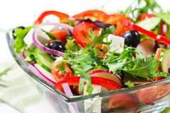 Salad with fresh vegetables and herbs Stock Photography