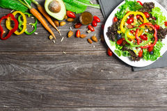 Salad with fresh vegetables Stock Photos