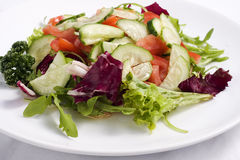 Salad from fresh vegetables Royalty Free Stock Images