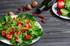 Salad of fresh vegetables stock photo