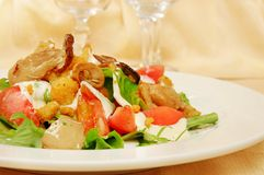 Salad from fried cabbage Stock Image