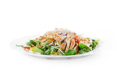 Salad of fried chicken Royalty Free Stock Photography