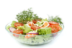 Salad From Shrimps Stock Images
