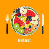 Salad From Fruit and Berries Stock Images