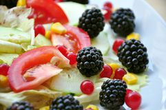 Salad with fruit and vegetables Royalty Free Stock Image