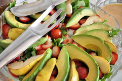 Salad with fruits Stock Photography