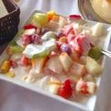 Salad of fruits Royalty Free Stock Photo