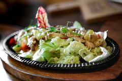 salad in a frying pan Royalty Free Stock Photo