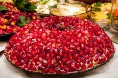 Salad Garnet Bracelet Stock Photos