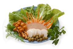 Salad with garnish Stock Images
