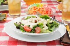 Salad and a gelatin fruit parfait Stock Photography
