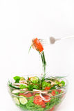 Salad in a glass bowl Royalty Free Stock Photography
