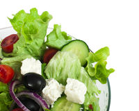Salad in a glass bowl close up Stock Images