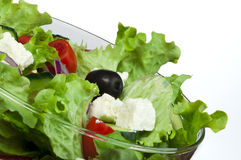 Salad in a glass bowl close up Stock Photography