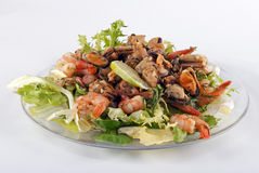 Salad on a glass plate Royalty Free Stock Photos