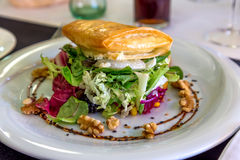 Salad with goat cheese Stock Images