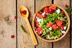 Salad with grapefruit and cheese royalty free stock photo