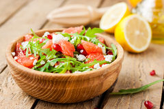 Salad with grapefruit and cheese royalty free stock photography