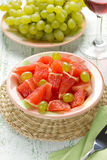 Salad with grapefruit and grapes Stock Photos