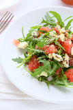 Salad with grapefruits and Roquefort Stock Photography