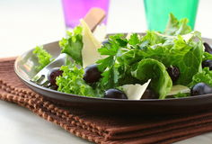Salad with grapes and cheese Royalty Free Stock Image
